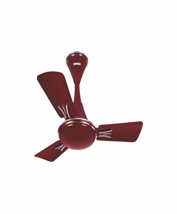 Luminous Audie Standard 600mm 3 Blade Ceiling Fan - Berry Red