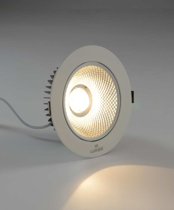 Luker COB Satin Nikel 7W LED COB Light