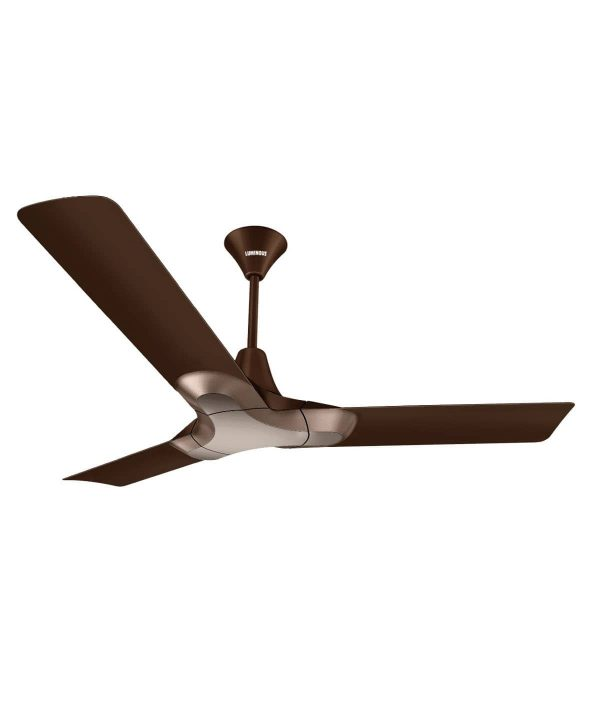 Luminous New York Brooklyn 1200mm 3 Blade Ceiling Fan - Ale Brown